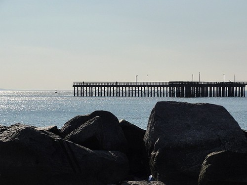 Rocks and Pier at Coney Island