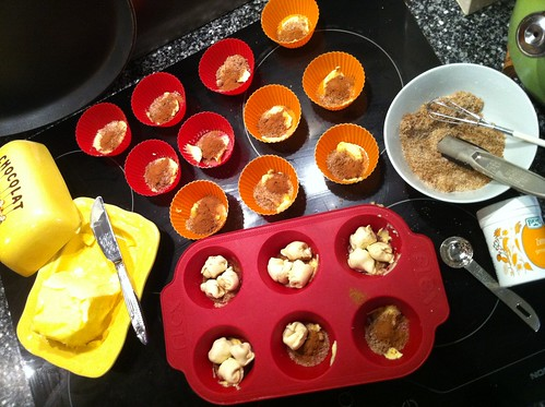 Baking Monkey Muffins with Croissant Dough