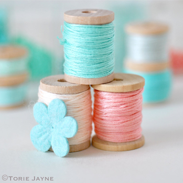 Embroidery thread to decorate Easter eggs with