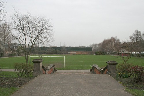 The football pitch