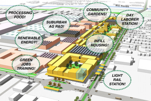 concept for suburban retrofit, Pico Rivera, CA (by: June Williamson and Anne Vaterlaus)
