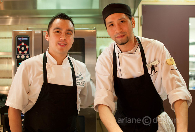 Executive Chef Daniel Craig with Chef John Chang