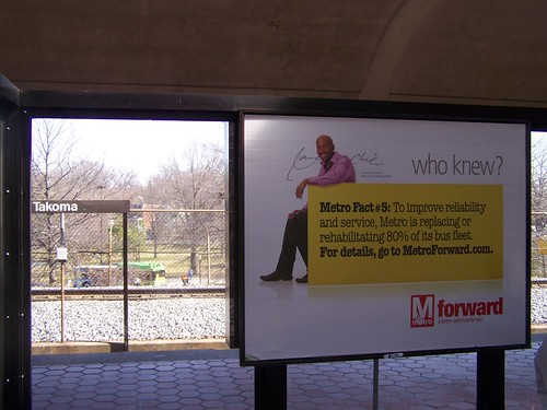 Metro Forward image advertisement, Takoma Metro Station