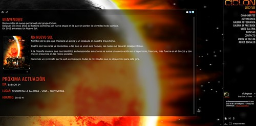Grupo Ciclón 2012 - captura web