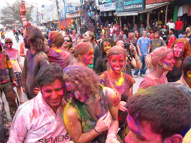 Celebrating Holi in Pokhara