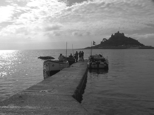 The boat out to St Michaels Mount