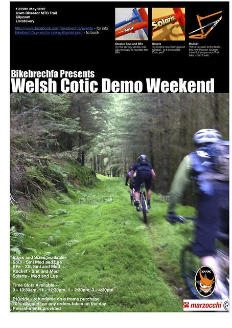 Welsh Cotic Demo Weekend