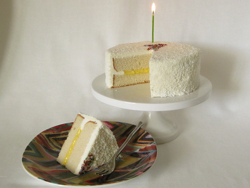 White Cake with Meyer Lemon Curd Filling and Lemony Swiss Meringue ...