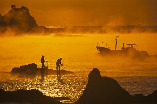 荒船海岸の海霧 @和歌山県串本町田原 12-02-12