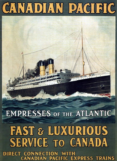 Fast & Luxurious Service to Canada. 1910