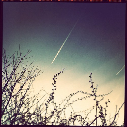 contrails at nightfall by lucy.loomis