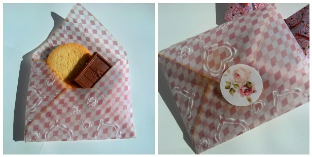 Vellum Envelopes Holding Sweets