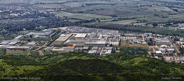 Esztergom, Suzuki Motor Works from the Air