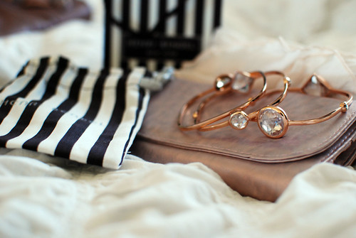 Henri Bendel Rose Gold No 7 Bangles
