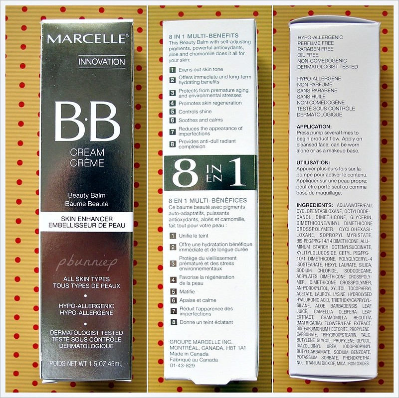 Marcelle BB Cream_Ingredients