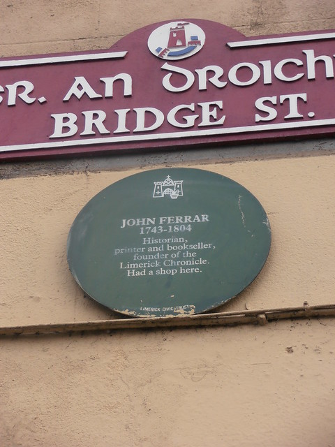 Photo of John Ferrar green plaque