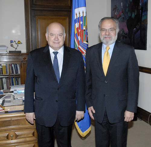 Secretary General of the OAS receives President of the IACHR