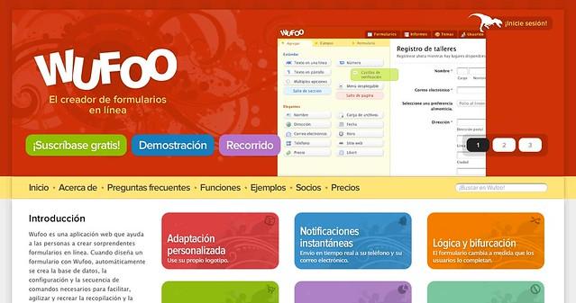 Wufoo Español Homepage