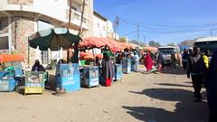 Small street vendor stands