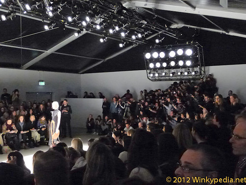 Wall of photographer at  London Fashion Week 2012