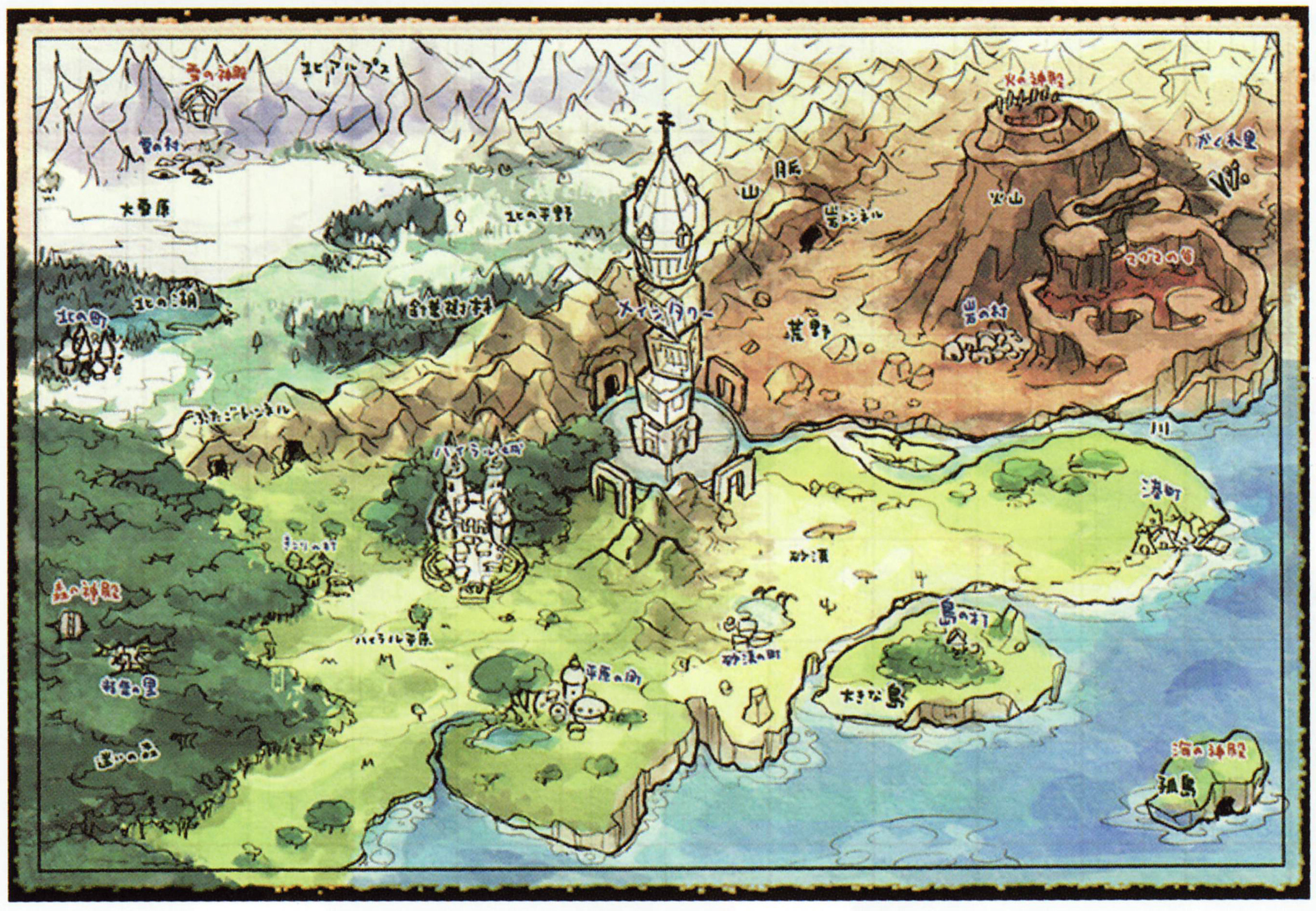 Glitterberris game translations pg 225 spirit tracks concept art st world map gumiabroncs Images