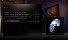 browsing Humax on a netbook in XBMC
