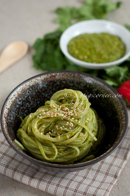 Coriander Pesto Linguine