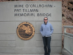 Clare at the Memorial Bridge