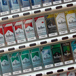 Tobacco Vending Machine 煙草自動販売機 The newly developed Tobacco vending machine in Japan has a built-in camera that measures facial wrinkles, pupil size and other features that can detect if the purchaser is a minor.