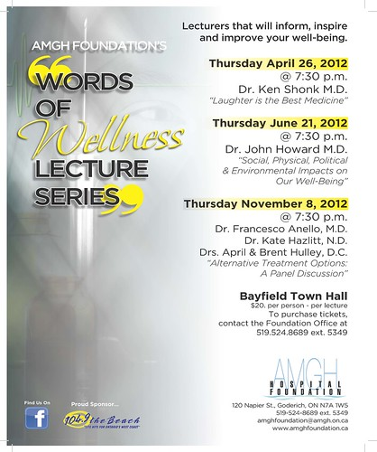 AMGHF Lecture Series Poster