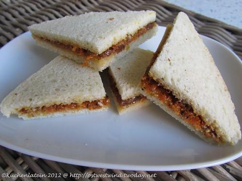 Karotten & Rosinen-Sandwich