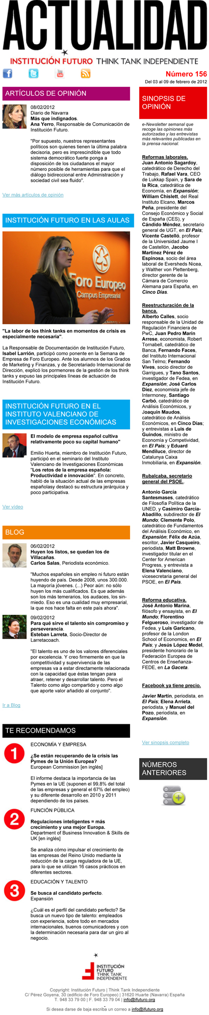 Boletín de Noticias 156