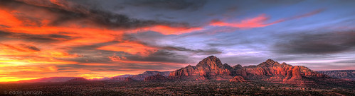 Sedona Sunset Panorama