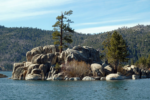 Boulder Island in Boulder Bay - Big Bear Lake by BlueVoter