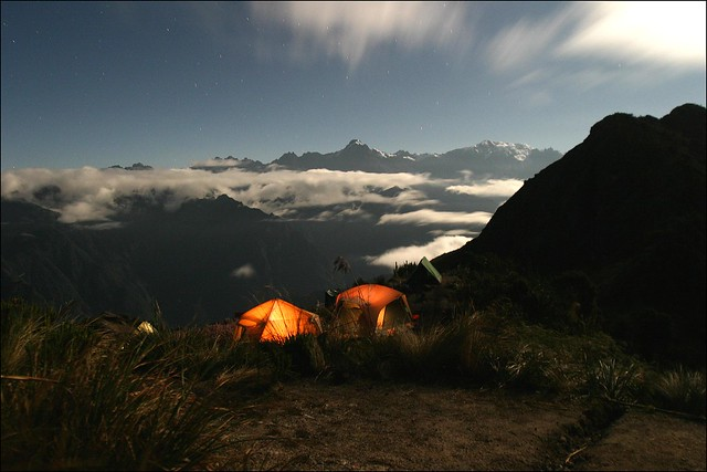 CAMP AT NIGHT, PERU