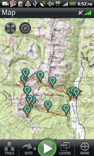 2. Backpacker GPS Trails