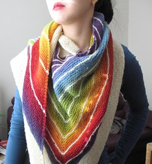 Stripe Study Shawl in Kauni