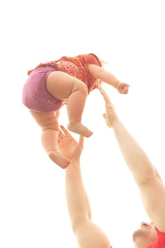 flying baby!