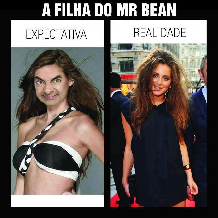 a filha de mr bean