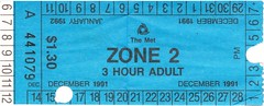 Zone 2, 3-hour ticket from 1991-92