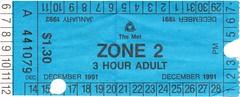 291-92区的2区,3小时票