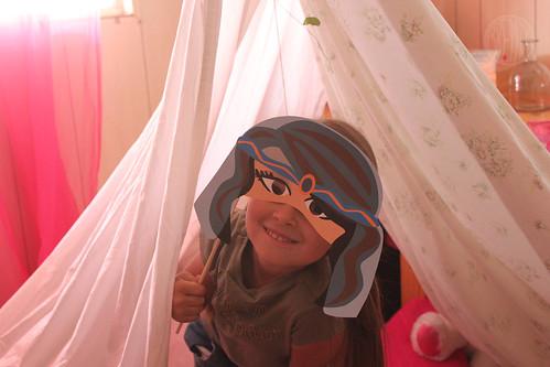 Queen Esther in her tent.