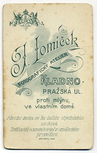 J. Lomíček, Kladno - Verso by oldichvondich (josefnovak33´s Alter Ego)