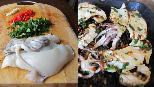 squid ingredients cooking