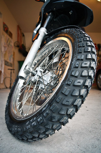 New Front tire Mounted