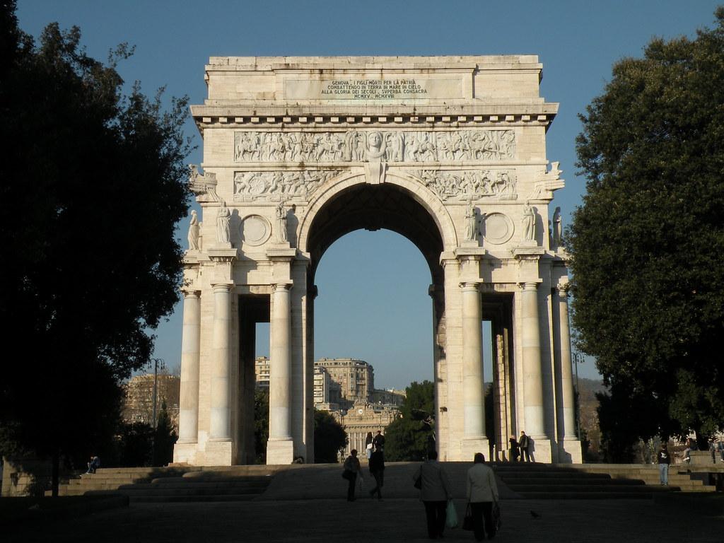 Arco della vittoria genova a photo on flickriver for Planimetrie della cabina ad arco