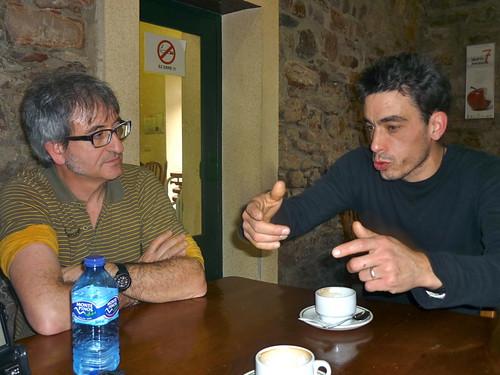 Joxe Felix Diaz de Tuesta eta Iker Aizkorbe Mondragon Unibertsitatean