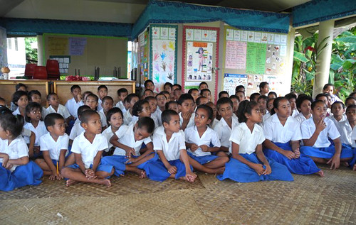 Faleu Primary School students.