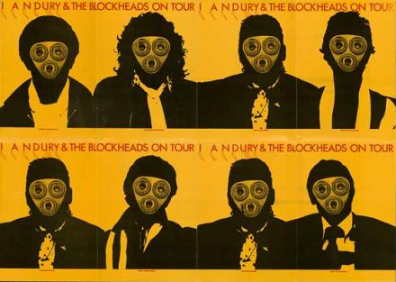 Double sided fold-out tour programme/poster for Ian Dury & The Blockheads, designed by Barney Bubbles 1978.440