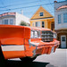 Life In The Excelsior - Orange Car, Yellow House, Blue Sky